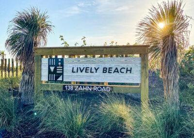 Austin.com – Lively Beach sign