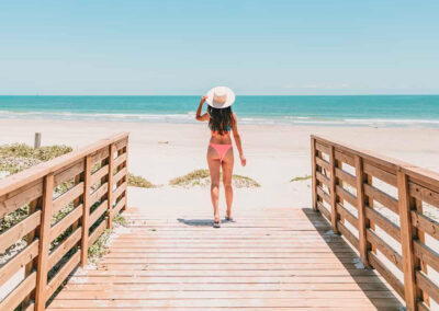 Jane Ko Lively Beach boardwalk