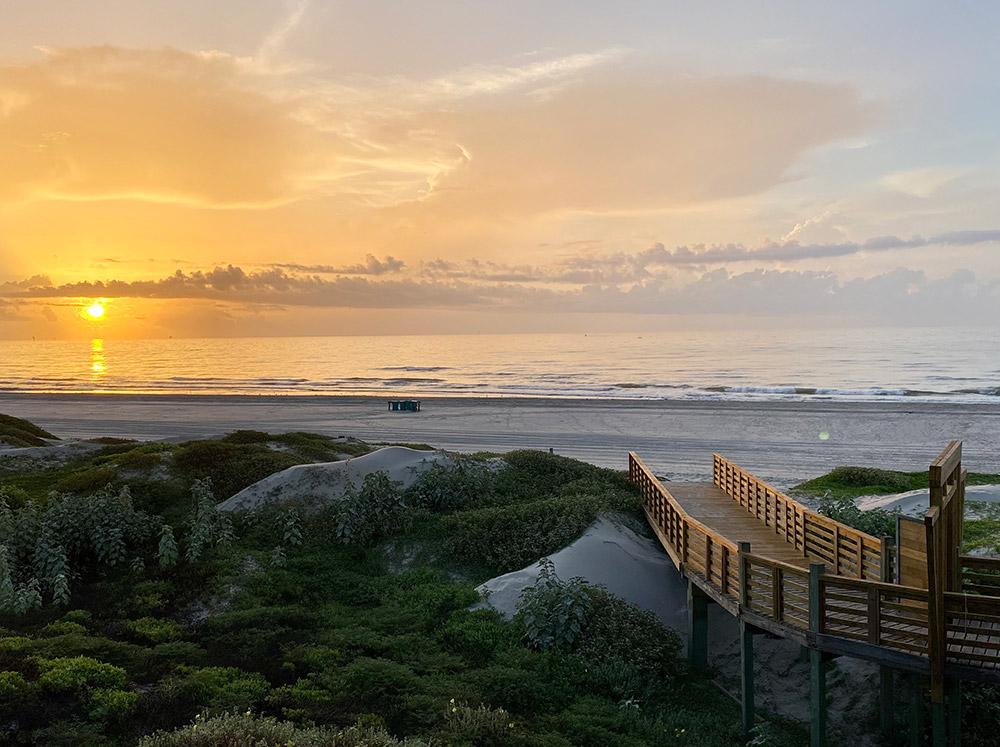 Lively Beach, beach at sunrise