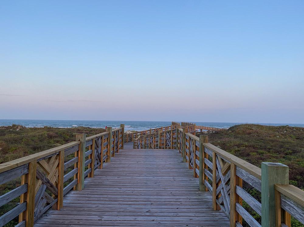 Lively Beach boardwalk