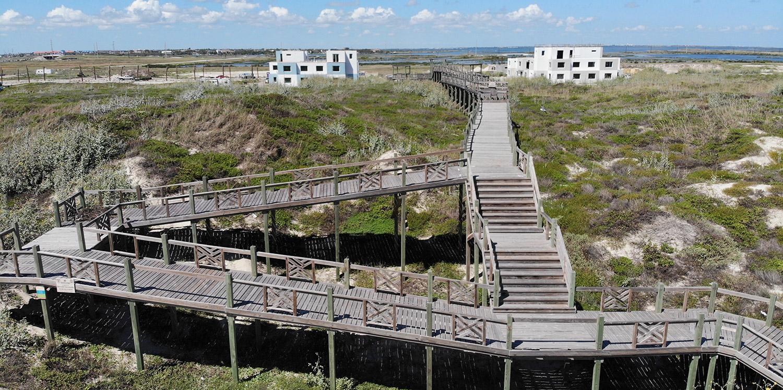 Lively Beach – Boardwalk (drone)
