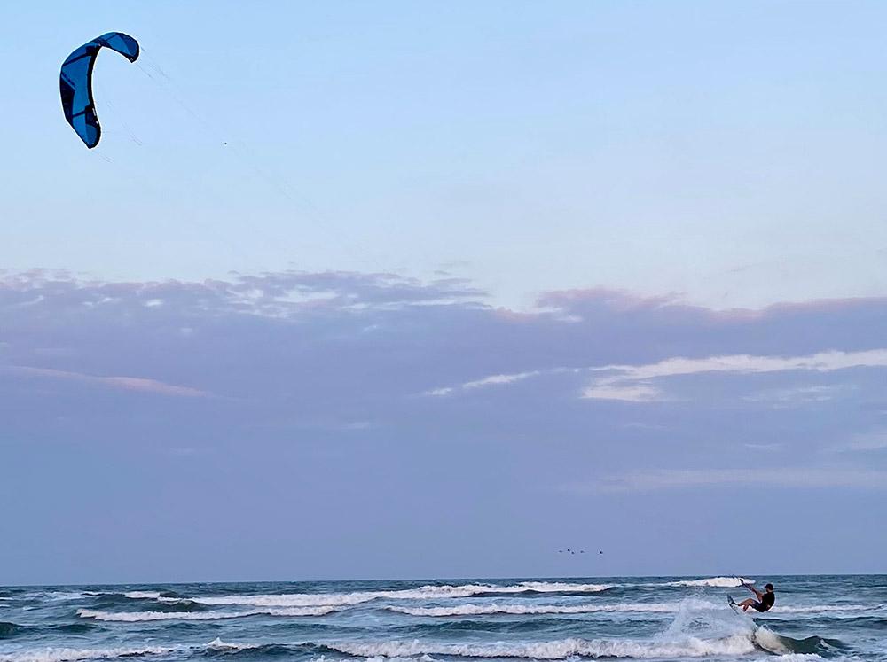 Lively Beach kiteboarding